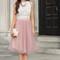 Leighton white sleeveless lace top - morning lavender