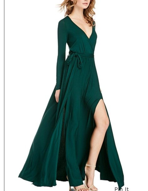 dress emerald green maxi dress maxi dress with slits green green dress long dress long sleeves long sleeve dress