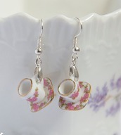 jewels,earrings,teacup earrings,miniature,miniature teacup,pink,pink earrings,porcelain,small,jewelry