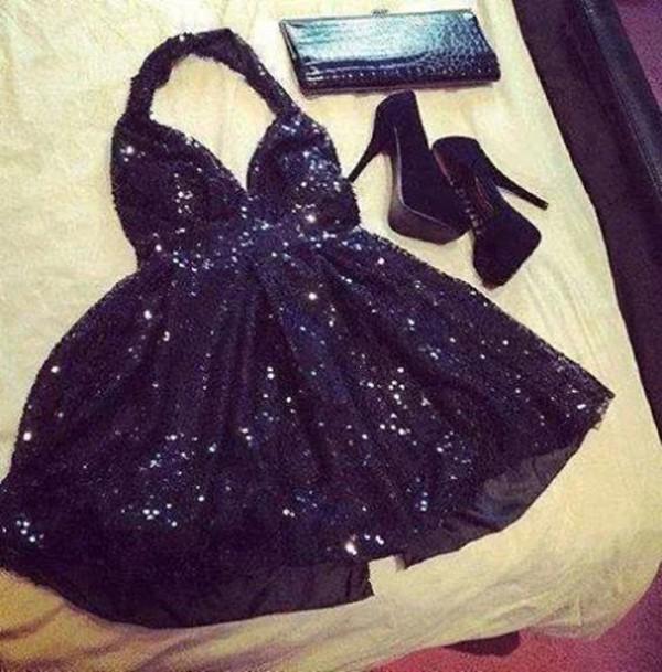 sparkley dress high heels