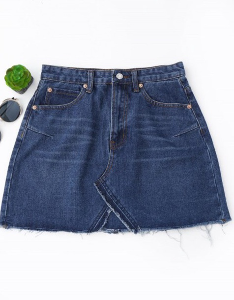 skirt girly blue denim denim skirt