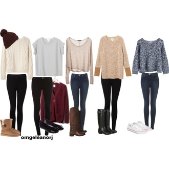shirt clothes beautymanifesto blouse skinny jeans long sleeves off the shoulder boots winter outfits jeans pants
