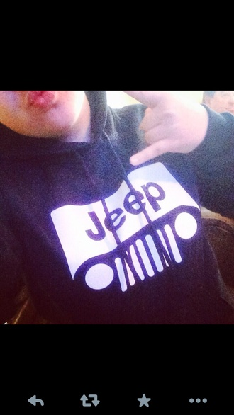 jacket black hoodie jeep sweatshirt