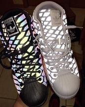 shoes,adidas,glow in the dark,sneakers,high top sneakers