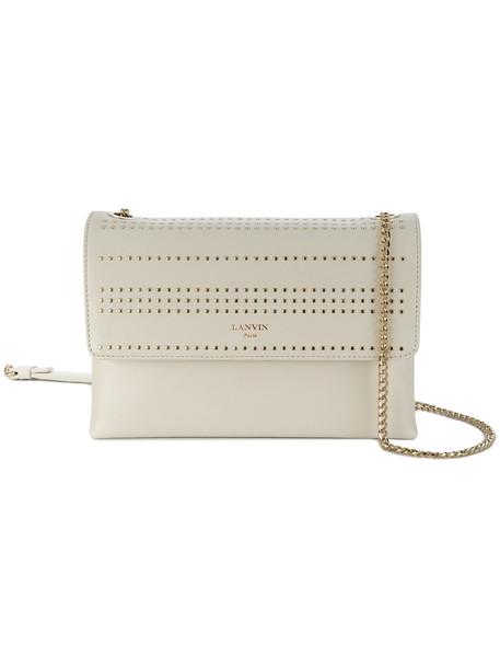 lanvin studded women bag shoulder bag white