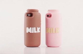 phone cover milk pink yellow brown white iphone case teenagers it girl shop