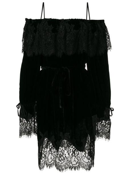 dress lace dress women lace cotton black silk