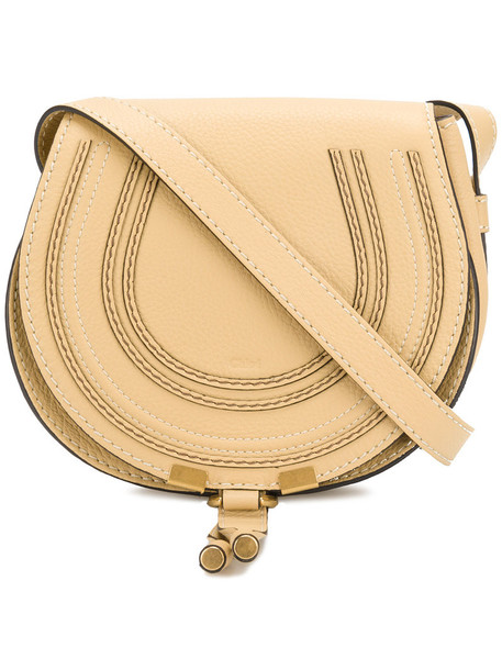 Chloe women bag crossbody bag leather cotton yellow orange