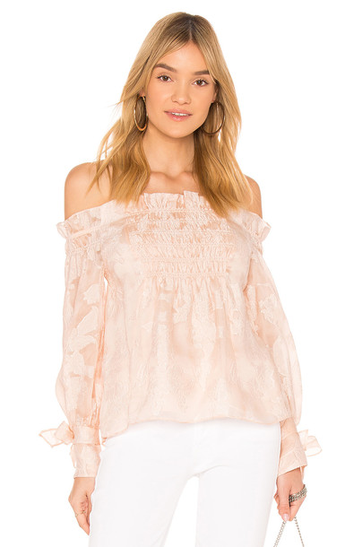 Rebecca Taylor top off the shoulder white