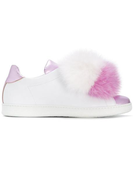Joshua Sanders fur women sneakers leather white shoes