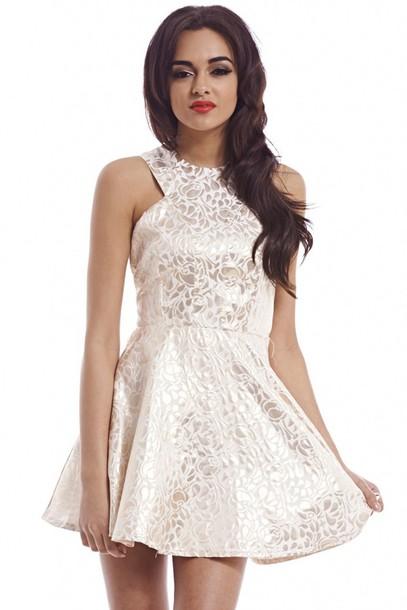 dress foil print dress skater dress
