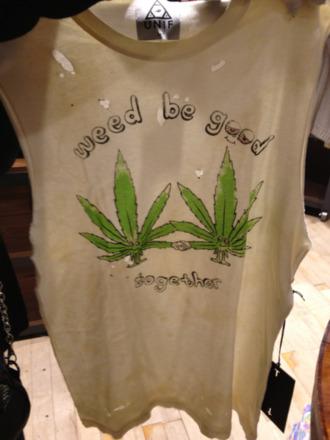 t-shirt weed top