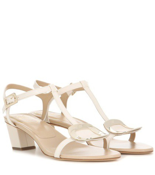 Roger Vivier sandals leather sandals leather white shoes