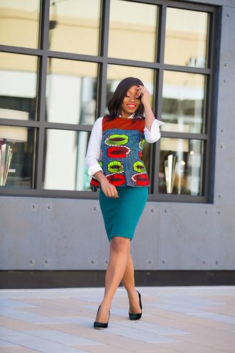 jadore-fashion blogger skirt top shirt shoes blouse pumps high heel pumps