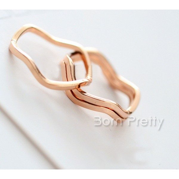 $0.49 Regal Slender Ring Vivid Wave Shaped Ring - BornPrettyStore.com