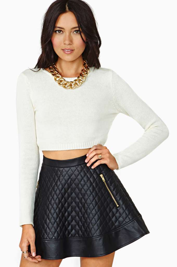 Gal Let It Be Crop Sweater - Ivory | Shop Cropped at Nasty Gal