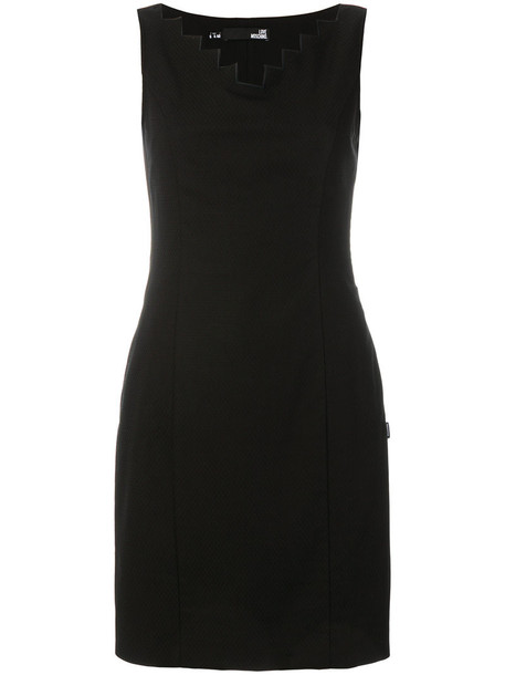 LOVE MOSCHINO dress short women spandex cotton black