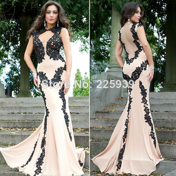 Aliexpress.com : Buy New Fashion Boat Neck Short Sleeves Crystal Beaded Diamond See Through Glitter Open Back Prom Dresses 2014 Summer Dress Shiny from Reliable dress white suppliers on Tracy Me
