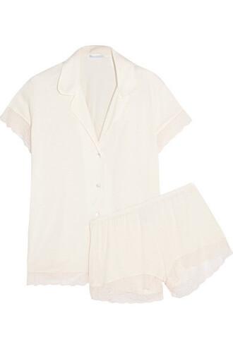 lace cream underwear