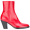 A.f.vandevorst - zipped ankle boots - women - leather/sheep skin/shearling - 38, red, leather/sheep skin/shearling