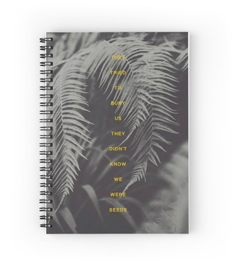 home accessory notebook quote on it stationary plants gift ideas back to school
