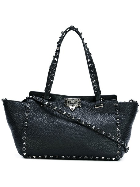 Valentino - 'Rockstud Rolling Noir' tote - women - Calf Leather/Metal (Other) - One Size, Black, Calf Leather/Metal (Other)