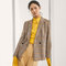 Limited edition checked suit blazer - women - massimo dutti