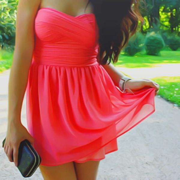 Coral Bodice Dress
