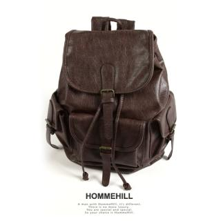 YESSTYLE: HOMMEHILL- Faux-Leather Backpack - Free International Shipping on orders over $150
