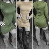 dress,kylie jenner dress,suede,casual suede dress,zipper dress,taupe,olive green,bodycon dress,bodycon