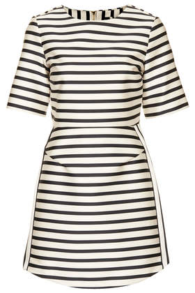 Satin Stripe A-Line Dress - Dresses - Clothing - Topshop USA