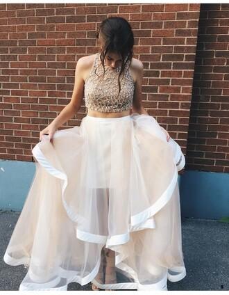 dress prom dress gown cream