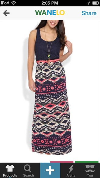 dress maxi dress sleeveless navajo long dress patten