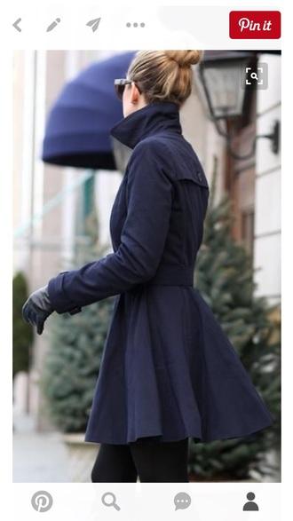 coat black coat navy