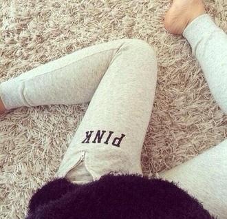 pants leggings victoria's secret vs pink pink yoga pants grey sweatpants grey