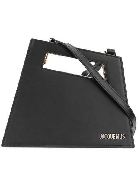 Jacquemus women geometric leather black bag