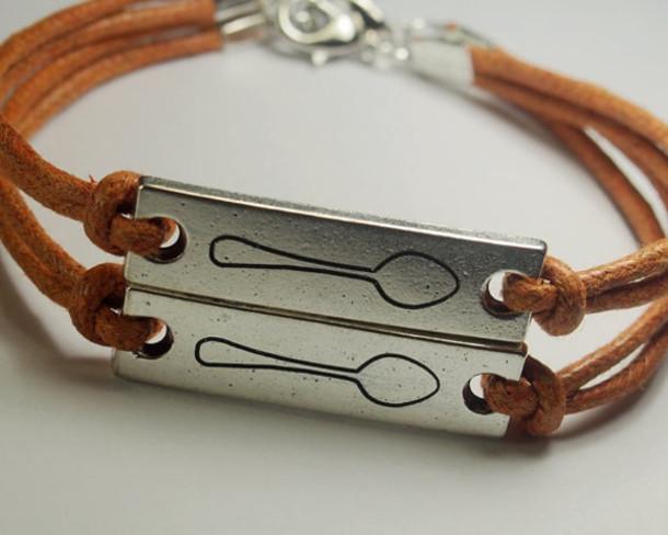 Jewels Bracelets Engraved Bracelet Spoon Bracelet Best Friend