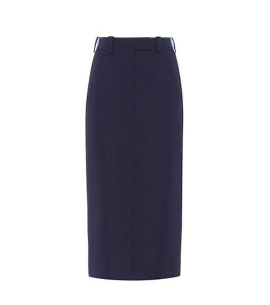 CALVIN KLEIN 205W39NYC skirt striped skirt blue