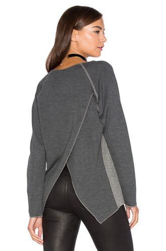 sweatshirt cross back charcoal sweater