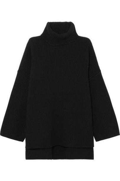 Joseph sweater turtleneck turtleneck sweater cotton black wool