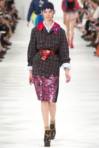 jacket skirt maison martin margiela runway model paris fashion week 2016