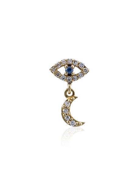 Ileana Makri women moon gold grey metallic jewels