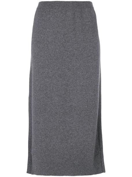 PRINGLE OF SCOTLAND skirt knitted skirt women grey