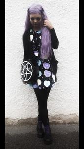 kawaii dress,kawaii,goth,pastel,pastel goth,punk,cute,bag,cardigan