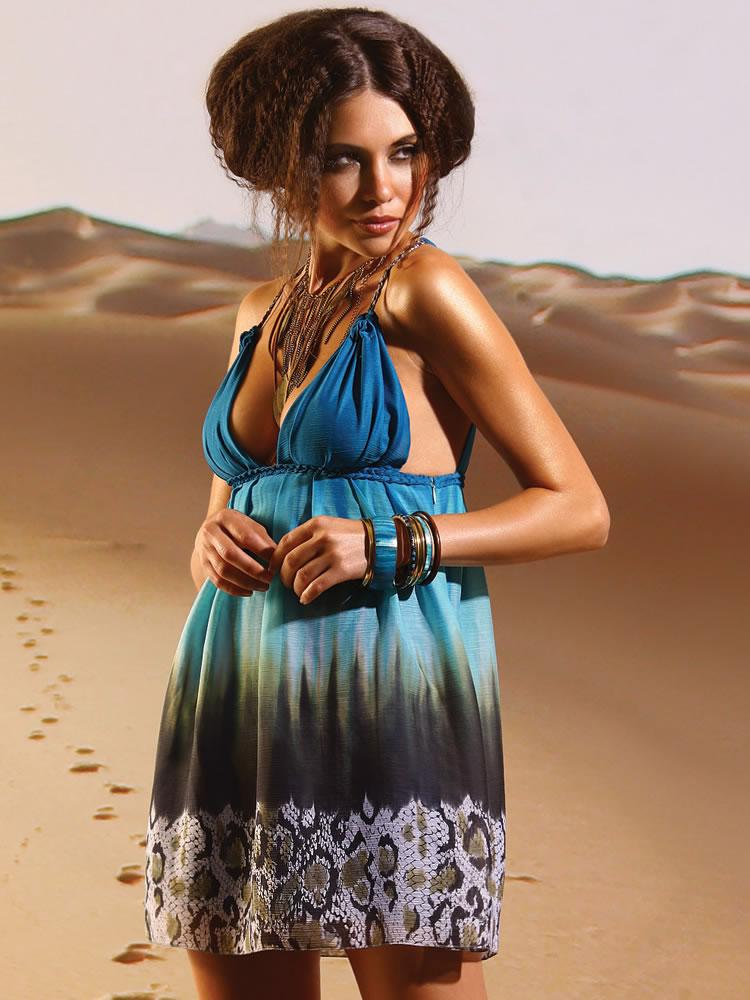 Blue python dress