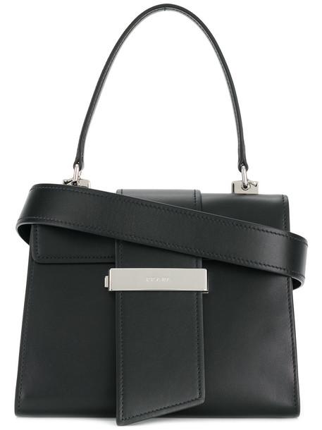 Prada - Ribbon handbag - women - Leather - One Size, Black, Leather