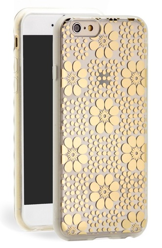 phone cover gold flowers clear iphone 6 case