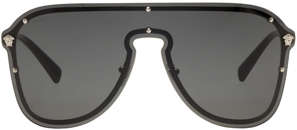 Versace Black frenergy Visor Sunglasses