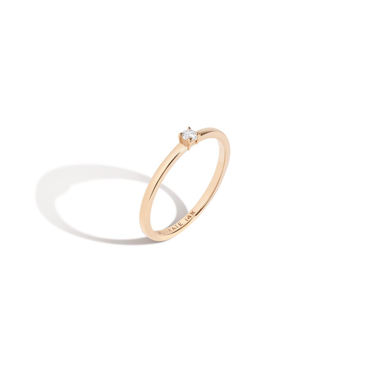 Medium Diamond Solitaire Ring