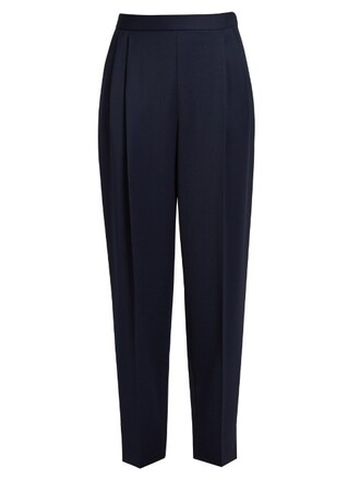 sea wool navy pants